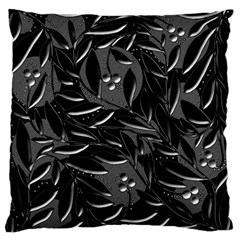 Black Floral Design Standard Flano Cushion Case (one Side) by Valentinaart