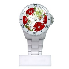 Red Roses Plastic Nurses Watch by fleurs