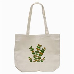 Green Decorative Plant Tote Bag (cream) by Valentinaart