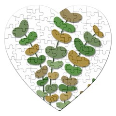 Green Decorative Plant Jigsaw Puzzle (heart) by Valentinaart