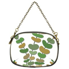 Green Decorative Plant Chain Purses (two Sides)  by Valentinaart