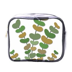 Green Decorative Plant Mini Toiletries Bags by Valentinaart