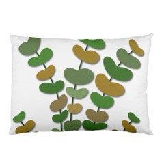 Green Decorative Plant Pillow Case (two Sides) by Valentinaart