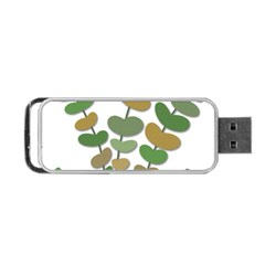 Green Decorative Plant Portable Usb Flash (one Side) by Valentinaart