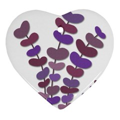 Purple Decorative Plant Ornament (heart)  by Valentinaart