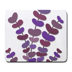 Purple Decorative Plant Large Mousepads by Valentinaart