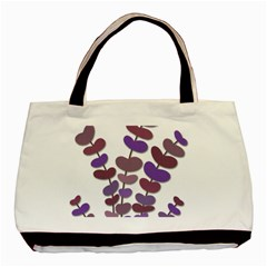 Purple Decorative Plant Basic Tote Bag (two Sides) by Valentinaart