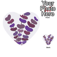 Purple Decorative Plant Multi Purpose Cards (heart)  by Valentinaart