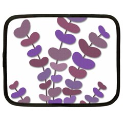 Purple Decorative Plant Netbook Case (large) by Valentinaart