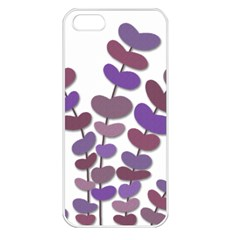 Purple Decorative Plant Apple Iphone 5 Seamless Case (white) by Valentinaart