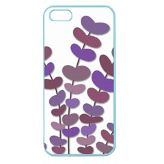 Purple Decorative Plant Apple Seamless Iphone 5 Case (color) by Valentinaart