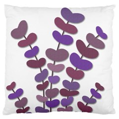 Purple Decorative Plant Large Flano Cushion Case (one Side) by Valentinaart