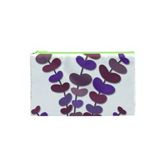 Purple Decorative Plant Cosmetic Bag (xs) by Valentinaart