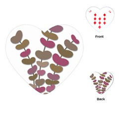 Magenta Decorative Plant Playing Cards (heart)  by Valentinaart