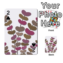 Magenta Decorative Plant Playing Cards 54 Designs  by Valentinaart