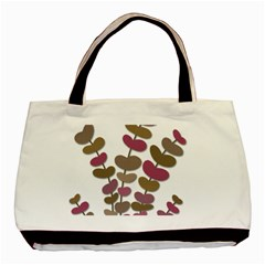 Magenta Decorative Plant Basic Tote Bag by Valentinaart