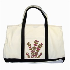 Magenta Decorative Plant Two Tone Tote Bag by Valentinaart