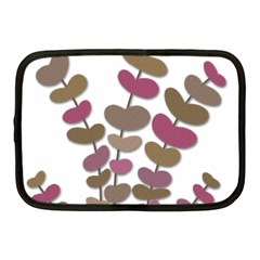 Magenta Decorative Plant Netbook Case (medium)  by Valentinaart