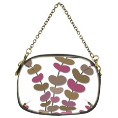 Magenta Decorative Plant Chain Purses (one Side)  by Valentinaart