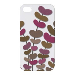 Magenta Decorative Plant Apple Iphone 4/4s Hardshell Case by Valentinaart