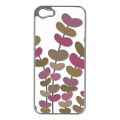 Magenta Decorative Plant Apple Iphone 5 Case (silver)