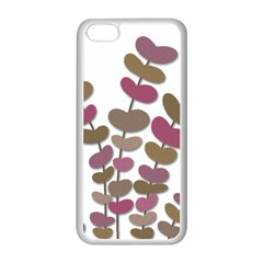 Magenta Decorative Plant Apple Iphone 5c Seamless Case (white) by Valentinaart