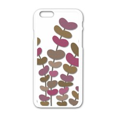 Magenta Decorative Plant Apple Iphone 6/6s White Enamel Case by Valentinaart