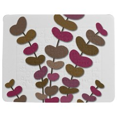 Magenta Decorative Plant Jigsaw Puzzle Photo Stand (rectangular) by Valentinaart