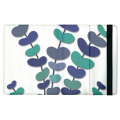 Blue Decorative Plant Apple Ipad 2 Flip Case by Valentinaart