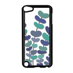 Blue Decorative Plant Apple Ipod Touch 5 Case (black) by Valentinaart