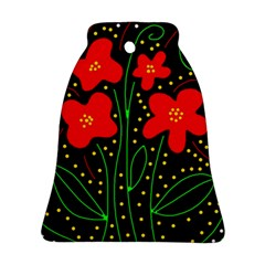 Red Flowers Ornament (bell)  by Valentinaart