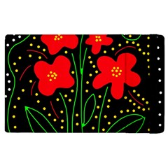 Red Flowers Apple Ipad 2 Flip Case
