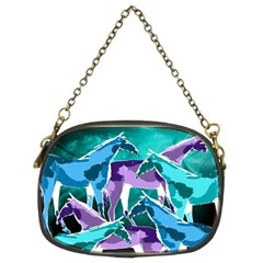 Horses Under A Galaxy Chain Purse (two Sided)