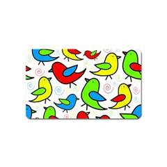 Colorful Cute Birds Pattern Magnet (name Card) by Valentinaart