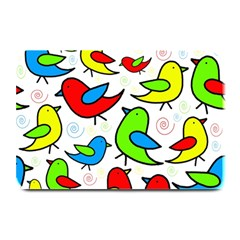 Colorful Cute Birds Pattern Plate Mats by Valentinaart