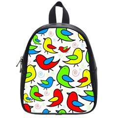 Colorful Cute Birds Pattern School Bags (small)  by Valentinaart