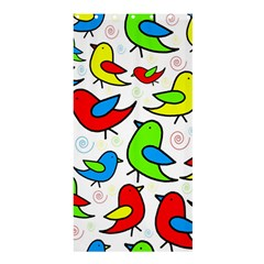Colorful Cute Birds Pattern Shower Curtain 36  X 72  (stall)  by Valentinaart