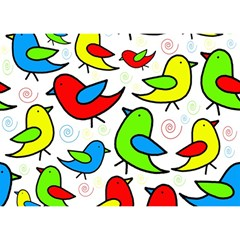 Colorful Cute Birds Pattern Birthday Cake 3d Greeting Card (7x5) by Valentinaart