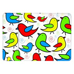 Colorful Cute Birds Pattern Samsung Galaxy Tab 8 9  P7300 Flip Case