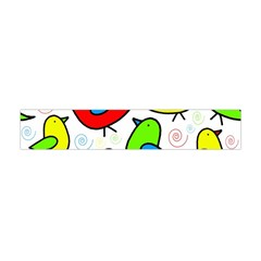 Colorful Cute Birds Pattern Flano Scarf (mini) by Valentinaart