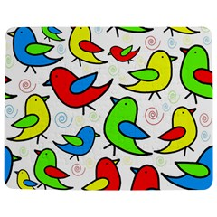 Colorful Cute Birds Pattern Jigsaw Puzzle Photo Stand (rectangular) by Valentinaart