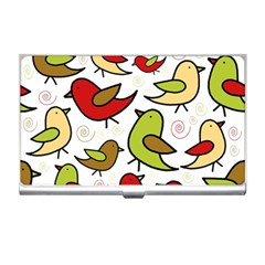 Decorative Birds Pattern Business Card Holders by Valentinaart