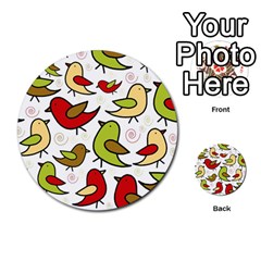Decorative Birds Pattern Multi-purpose Cards (round)