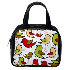 Decorative Birds Pattern Classic Handbags (one Side) by Valentinaart