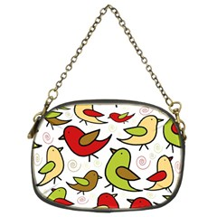 Decorative Birds Pattern Chain Purses (two Sides)  by Valentinaart