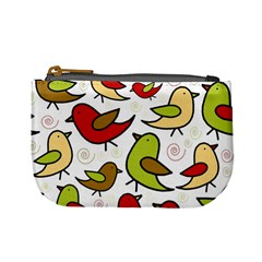 Decorative Birds Pattern Mini Coin Purses by Valentinaart