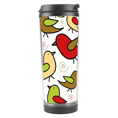 Decorative Birds Pattern Travel Tumbler by Valentinaart