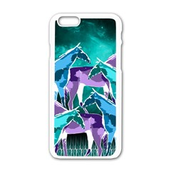 Horses Under A Galaxy Apple Iphone 6/6s White Enamel Case by DanaeStudio
