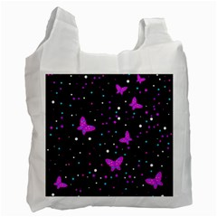 Pink Butterflies  Recycle Bag (one Side) by Valentinaart