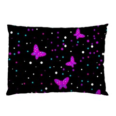 Pink Butterflies  Pillow Case (two Sides) by Valentinaart